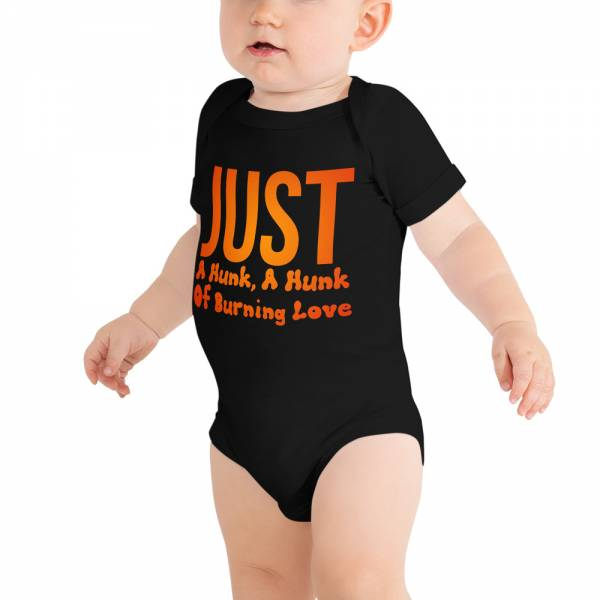 Just A Hunk Baby Short Sleeve One Piece Black