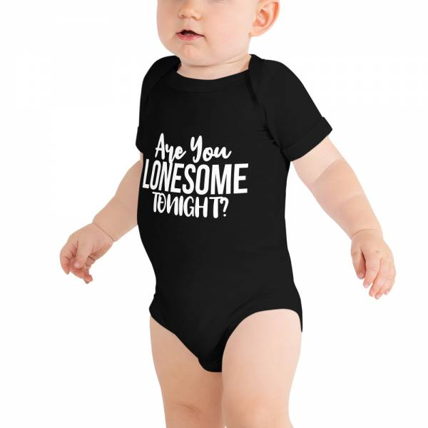 Are You Lonesome Tonight Baby Short Sleeve One Piece Black