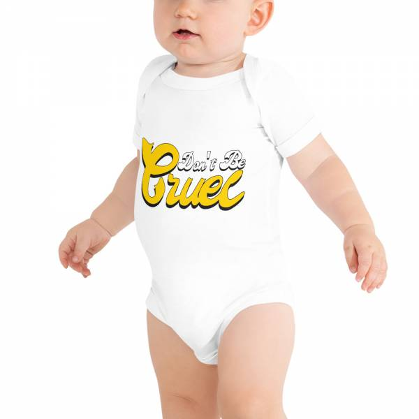 Don t Be Cruel Baby Short Sleeve One Piece White
