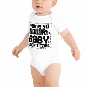 You Are So Square Baby Short Sleeve One Piece White
