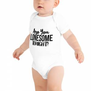 Are You Lonesome Tonight Baby Short Sleeve One Piece White
