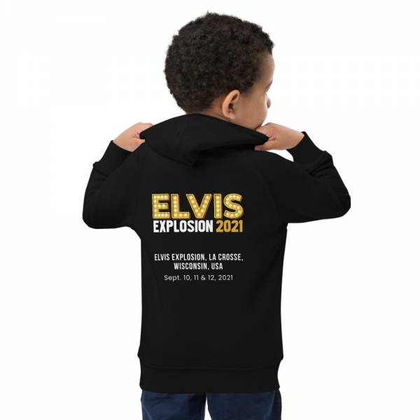 Thank You Thank You Very Much Kids Eco Hoodie Black