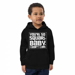 You Are So Square Kids Eco Hoodie Black