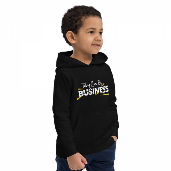 Taking Care Of Business Kids Eco Hoodie Black