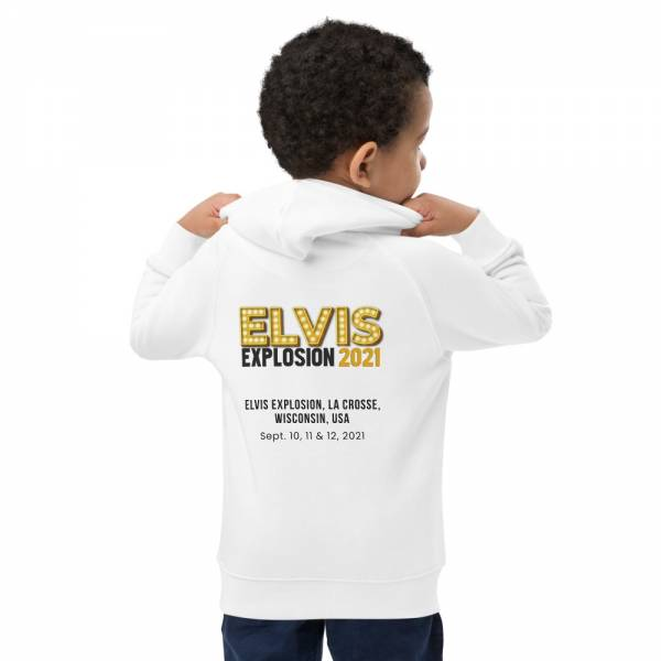 Taking Care Of Business Kids Eco Hoodie White