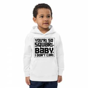You Are So Square Kids Eco Hoodie White