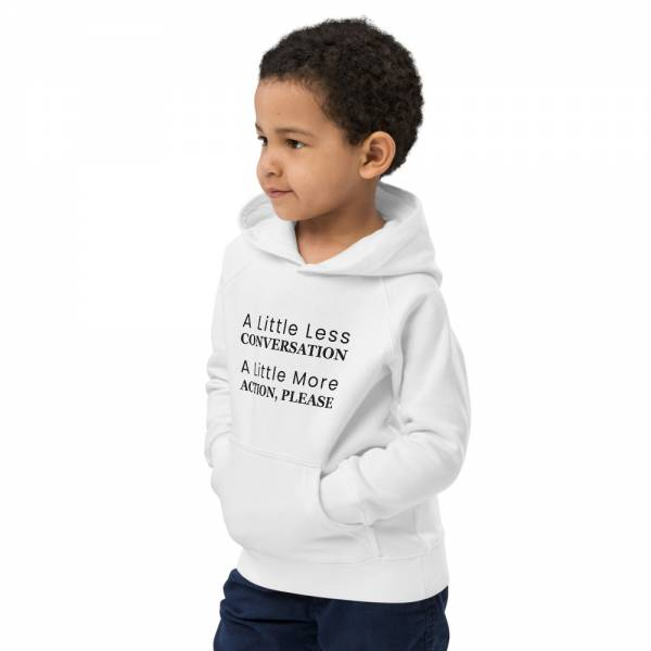 A Little Less Conversation - Kids Eco Hoodie White