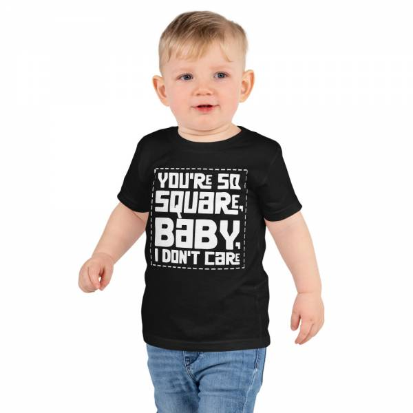 You Are So Square Short Sleeve Kids T Shirt Black