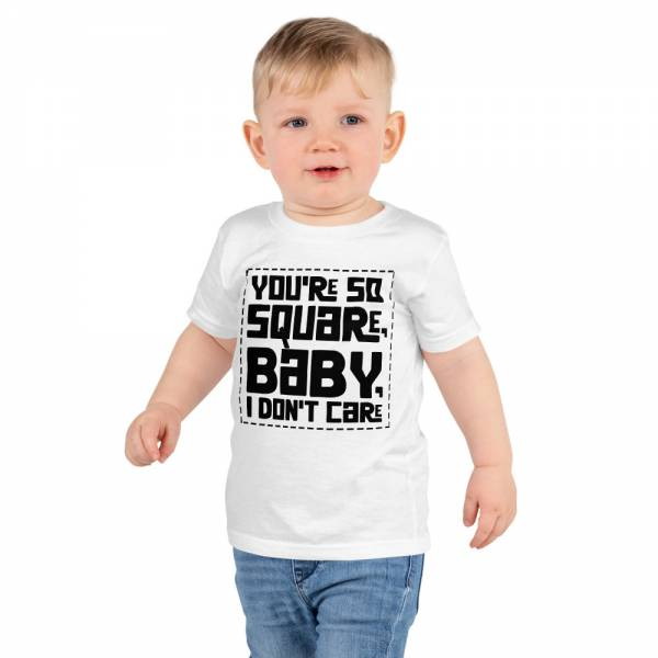 You Are So Square Short Sleeve Kids T Shirt White